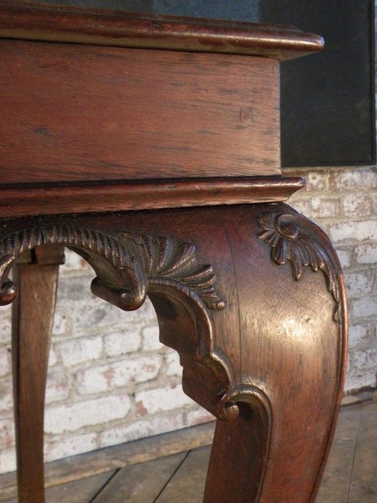 Portuguese Rococo 18th Century Mahogany Console Table / Side Table For Sale 6