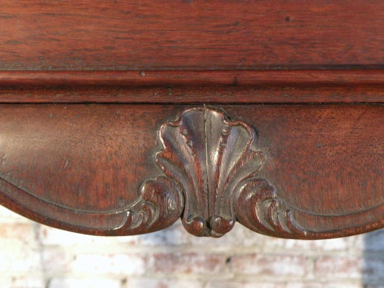 Portuguese Rococo 18th Century Mahogany Console Table / Side Table For Sale 7