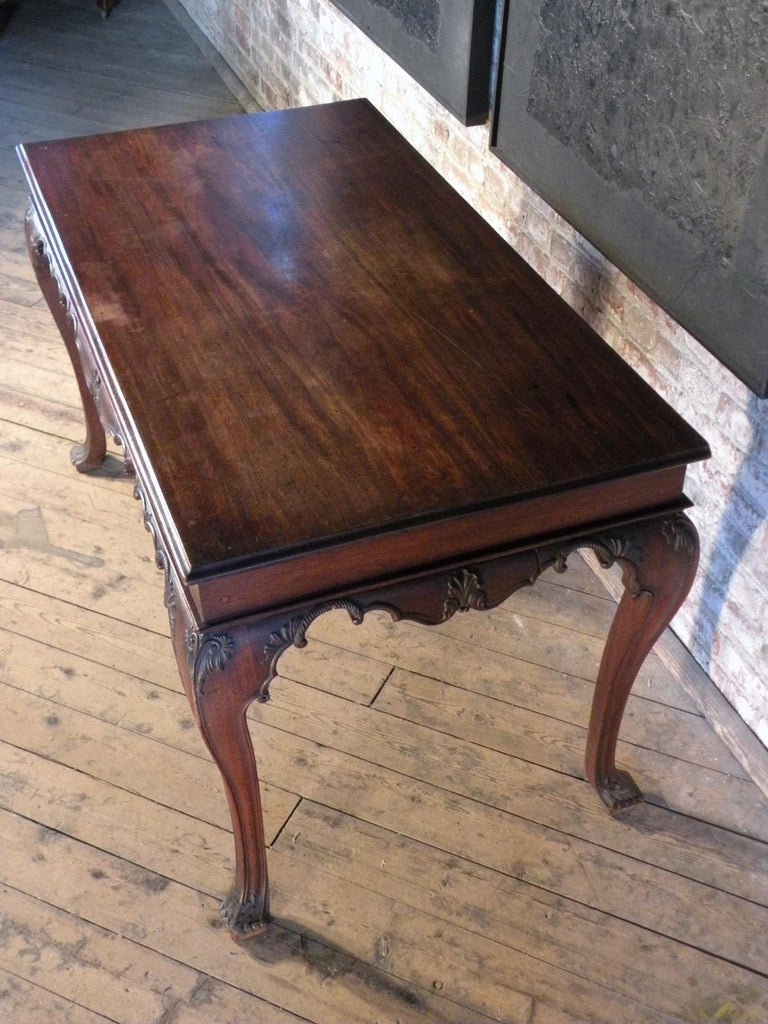 Portuguese Rococo 18th Century Mahogany Console Table / Side Table In Good Condition For Sale In Troy, NY