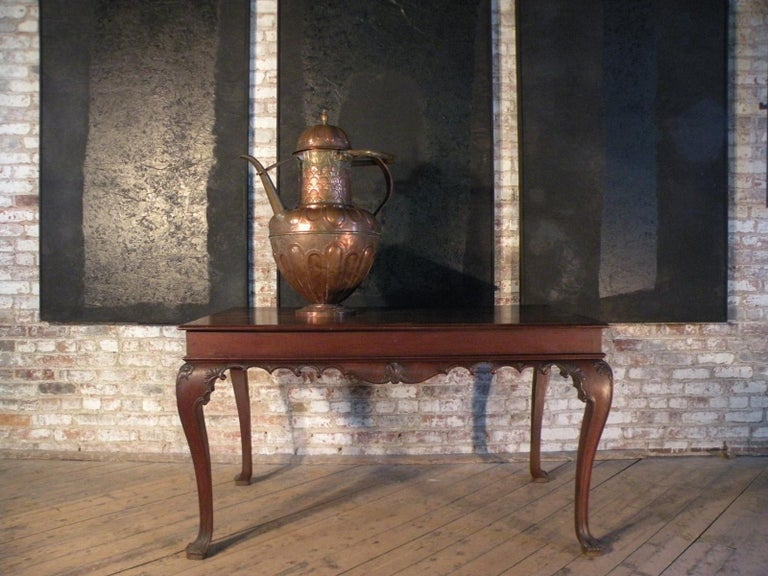 Portuguese Rococo 18th Century Mahogany Console Table / Side Table For Sale 2