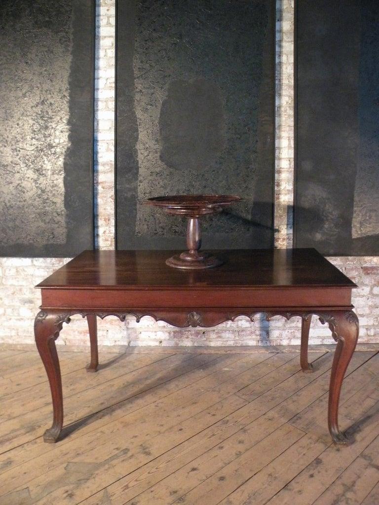 Portuguese Rococo 18th Century Mahogany Console Table / Side Table For Sale 3