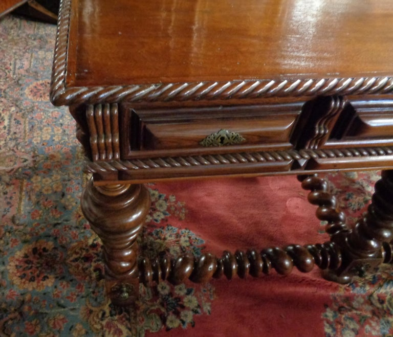 Portuguese Rosewood Double Sided Center/Console Table, circa 1850 In Excellent Condition For Sale In West Hollywood, CA