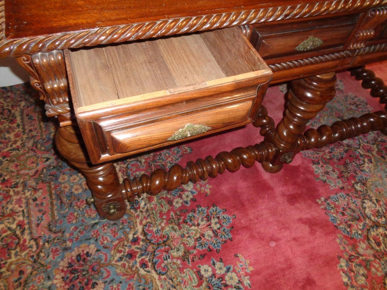 Portuguese Rosewood Double Sided Center/Console Table, circa 1850 For Sale 1