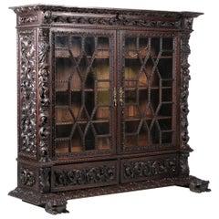 Portuguese Showcase Cabinet End 19th Century
