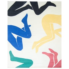 Pose by Liesel Plambeck, Modern Colorful Matisse Rug