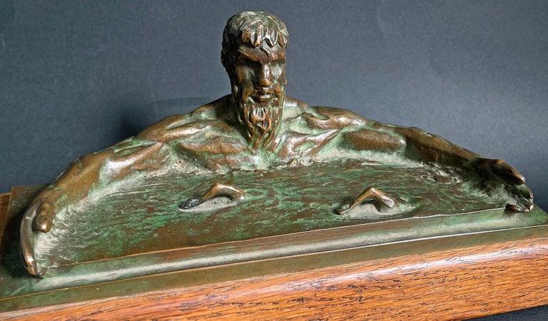 Poseidon Calming the Sea, Sculpture w/ Swimmers by Joe