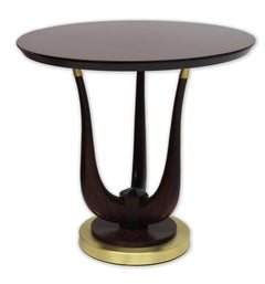 Poseidon Side Table with wooden top