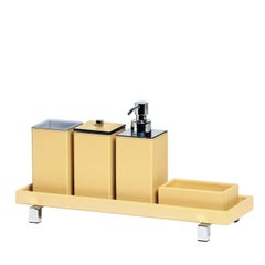 Poseidon Yellow Leather Square Bath Set