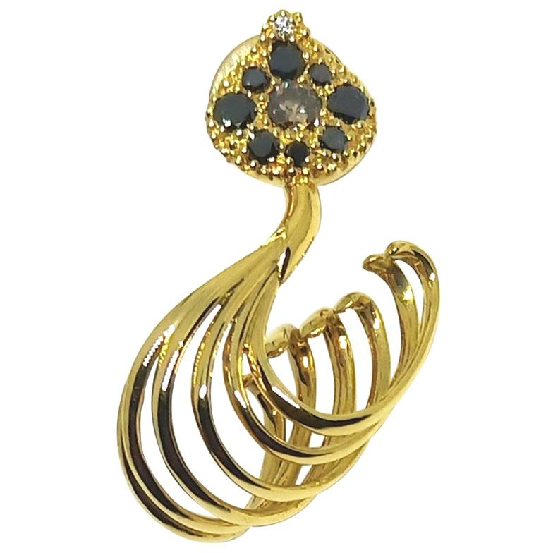 Possess, Influence, Cherish, Pass on, with Contemporary Colored Diamond Earrings