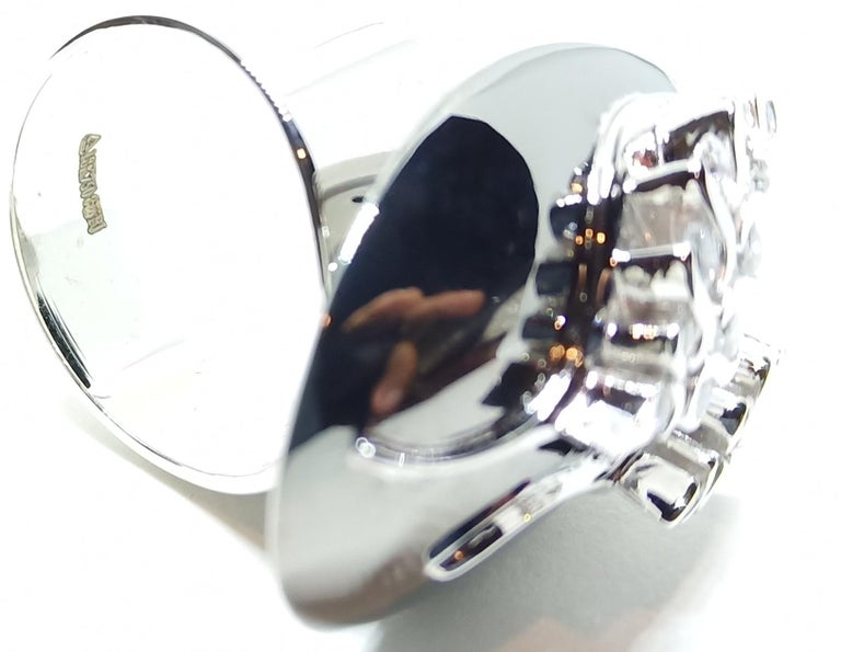 Possess, Influence, Cherish, Pass on, with One of a Kind Diamond Cocktail Ring For Sale 4