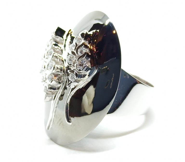 Possess, Influence, Cherish, Pass on, with One of a Kind Diamond Cocktail Ring For Sale 6
