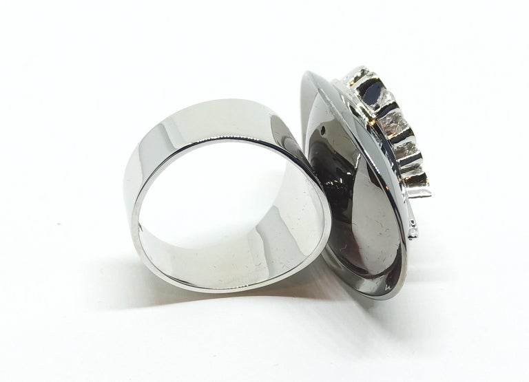 Contemporary Possess, Influence, Cherish, Pass on, with One of a Kind Diamond Cocktail Ring For Sale
