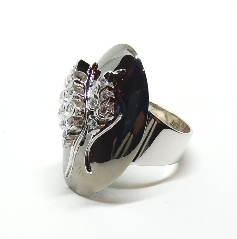 Possess, Influence, Cherish, Pass on, with One of a Kind Diamond Cocktail Ring In New Condition For Sale In NEW DELHI, IN