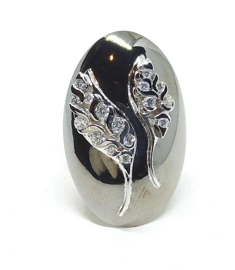 Women's Possess, Influence, Cherish, Pass on, with One of a Kind Diamond Cocktail Ring For Sale