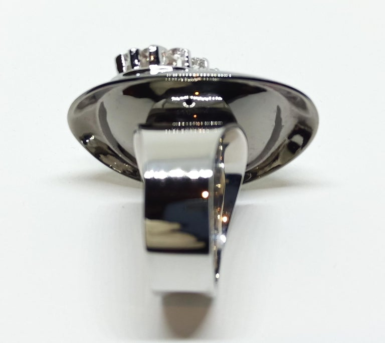 Possess, Influence, Cherish, Pass on, with One of a Kind Diamond Cocktail Ring For Sale 2