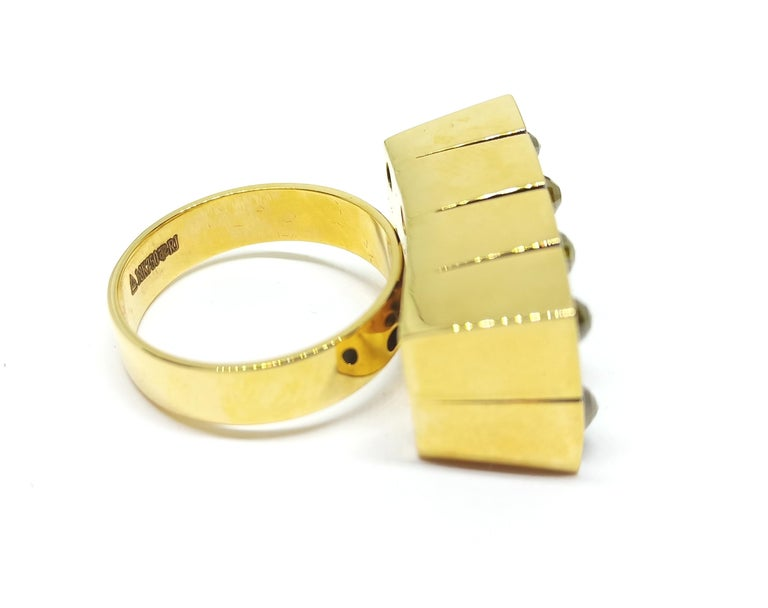 Contemporary Possess, Influence, Cherish, Pass On, with One of a Kind Yellow Diamond Ring For Sale