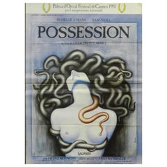 """Possession"" Movie Film Poster by Andrezej Zulawski Design Basha, French, 1980"