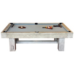 Post and Beam Design Weathered Finish Pool Table
