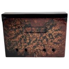 Post Box, from the 1930s, Bakelite, Dark Brown with Mottled Color Door