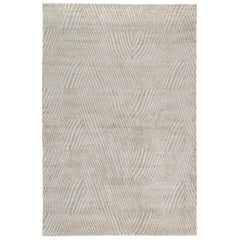Post Hand-Knotted 6x4 Area Rug in Silk by Kelly Wearstler