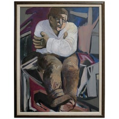 Post-Impressionist Portrait of Working Class African American Man