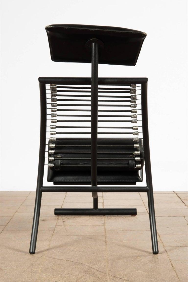 Metal Postmodern Italian Chaise Lounge Chair, 1980s For Sale