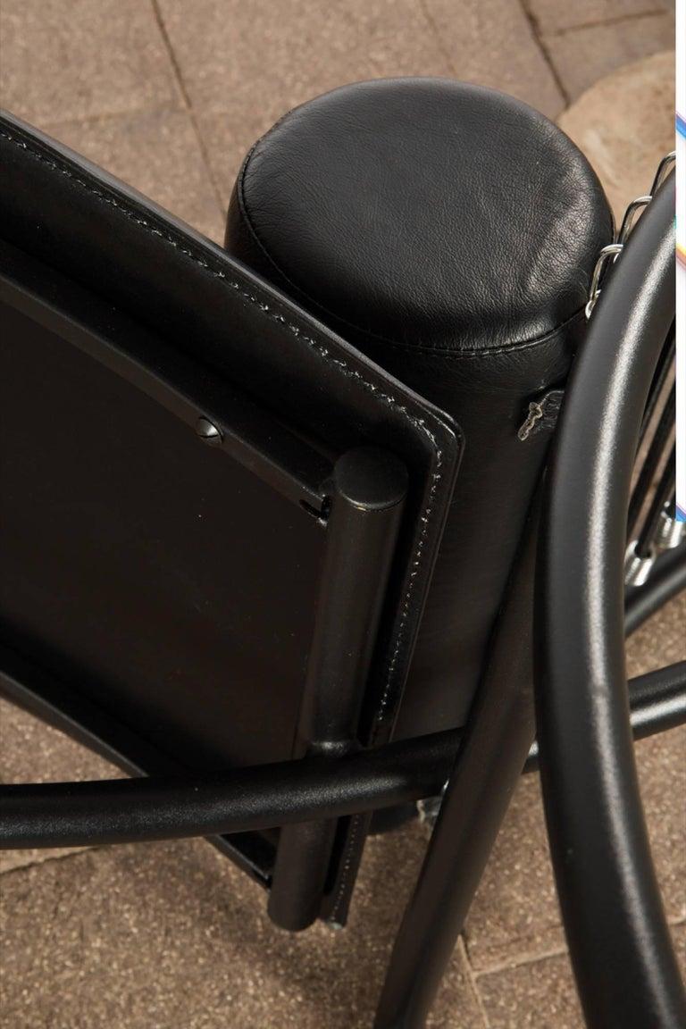 Postmodern Italian Chaise Lounge Chair, 1980s For Sale 3