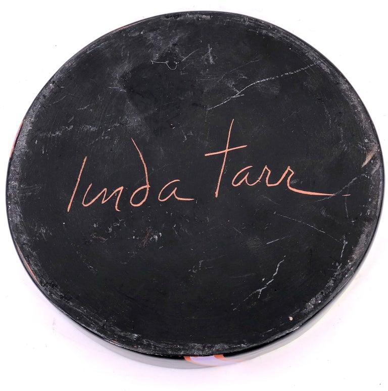 American Postmodern Ceramic Decorative Low Bowl by Linda Tarr Artist For Sale