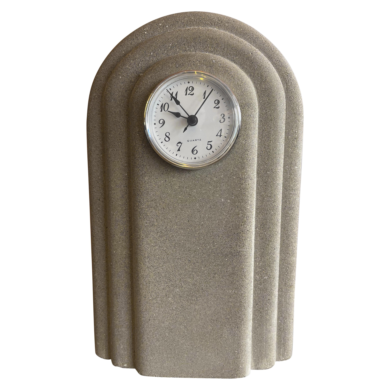 Post-Modern Concrete Mantel Clock by Franco Vecchio