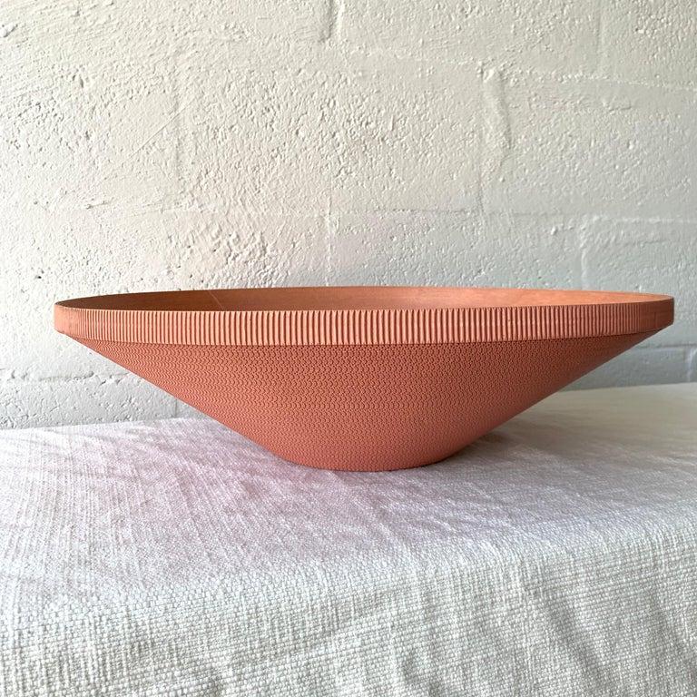 Post-Modern Postmodern Corrugated Cardboard Bowl or Vessel For Sale