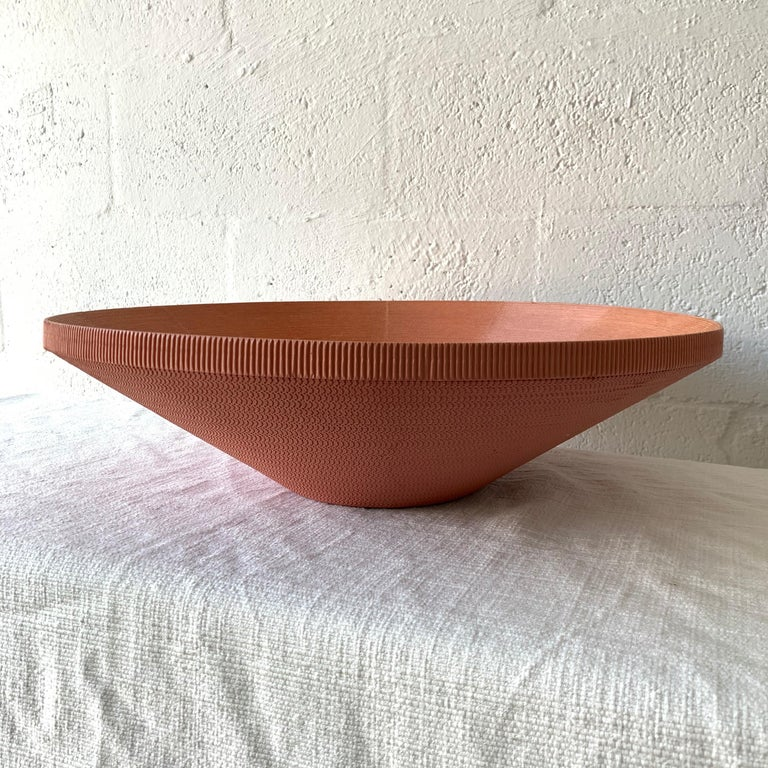 American Postmodern Corrugated Cardboard Bowl or Vessel For Sale