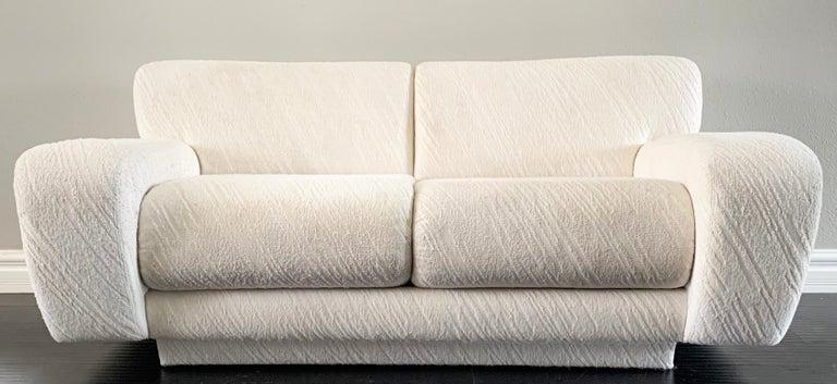 Post-Modern Postmodern Deco Styled Loveseat Sofa