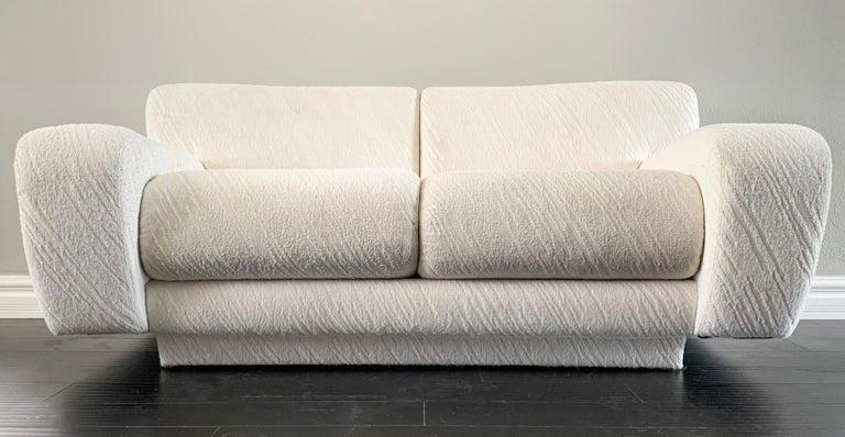 Late 20th Century Postmodern Deco Styled Loveseat Sofa