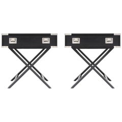 Postmodern 'Director' Side Tables