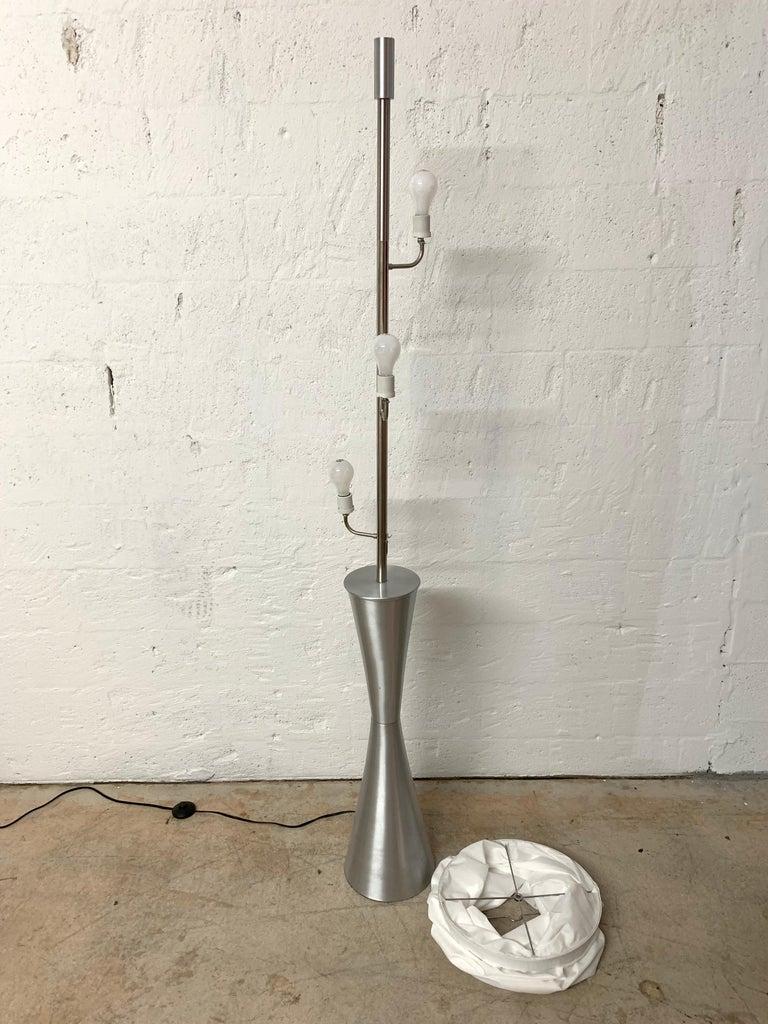 20th Century Postmodern Geometric Sculptural Aluminum Floor Lamp, USA, 1980s For Sale