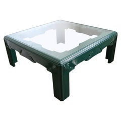 Postmodern Green Lacquer Coffee Table
