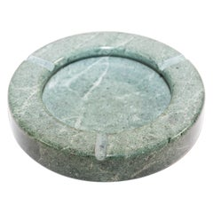 Post Modern Green Marble Ashtray 1970, Made in Italy
