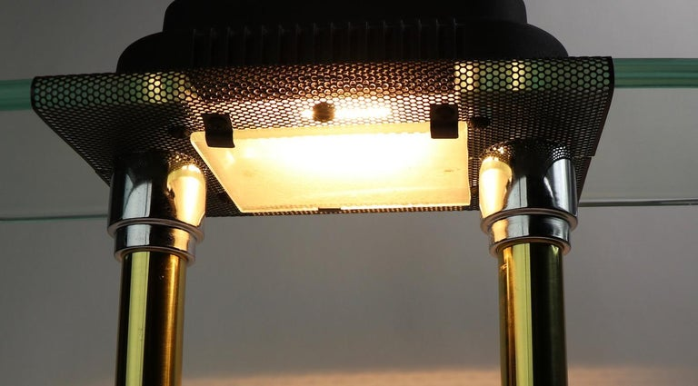 Post Modern Halogen Desk Lamp by Sonneman for Kovacs For Sale 2