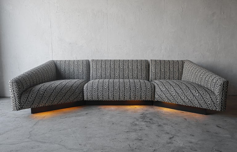 Post-Modern Post Modern Illuminated Base Sofa by Steve Chase For Sale