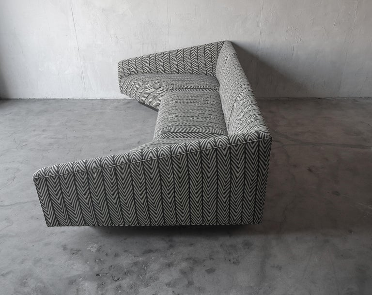 Post Modern Illuminated Base Sofa by Steve Chase In Excellent Condition For Sale In Las Vegas, NV