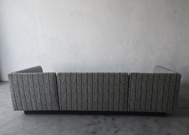 20th Century Post Modern Illuminated Base Sofa by Steve Chase For Sale