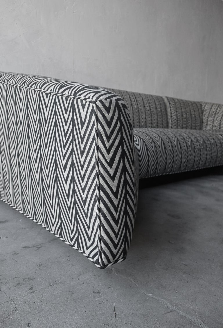 Post Modern Illuminated Base Sofa by Steve Chase For Sale 2