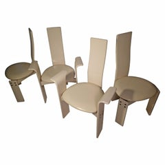 Post Modern Italian Lacquered Set of Four Dining Chairs