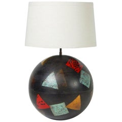 Postmodern Karl Springer Design Metal Ball Lamp