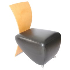 Postmodern Leather BOBO Easy Chair by Dietmar Sharping