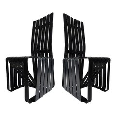 Postmodern Maple Ebonized High Sticking Chair by Frank Gehry for Knoll, 1992
