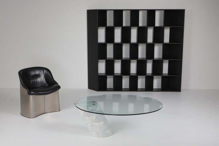 Postmodern Marble Coffee Table by Ronald Schmitt For Sale 3