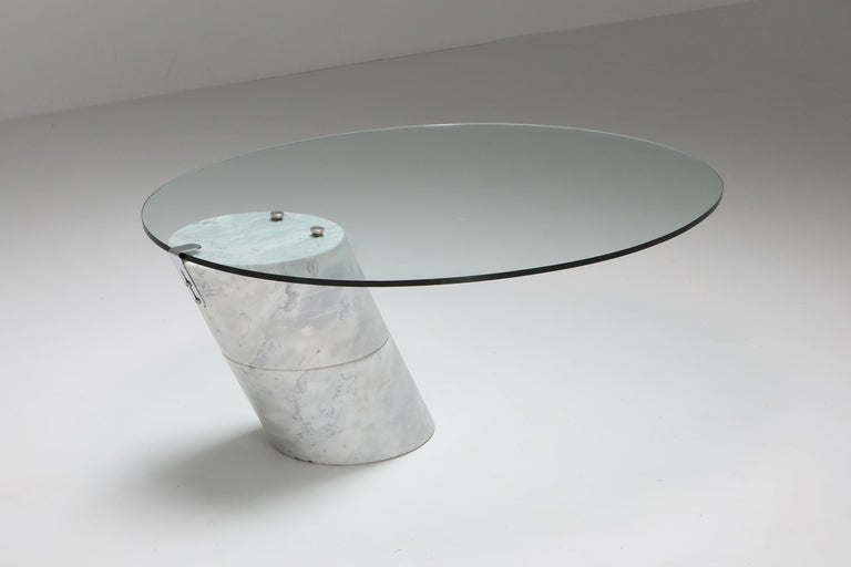 Post-Modern Postmodern Marble Coffee Table by Ronald Schmitt For Sale