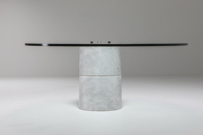 Italian Postmodern Marble Coffee Table by Ronald Schmitt For Sale