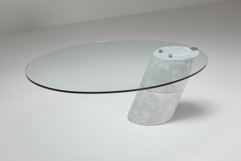 Postmodern Marble Coffee Table by Ronald Schmitt In Excellent Condition For Sale In Antwerp, BE